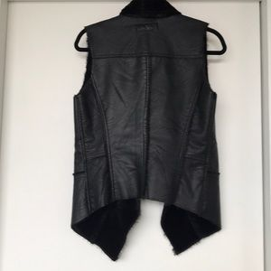 Blank NYC Jackets & Coats - Blank NYC Faux leather and fur lined vest